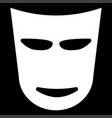 theater mask the white color icon vector image vector image