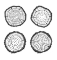 tree rings collection Flat Design vector image