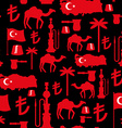 Turkey symbols seamless pattern Turkish national vector image vector image