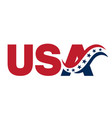 usa banner sign with abstract flag and stars vector image