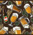 vintage brewing seamless pattern vector image