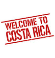 welcome to costa rica stamp vector image vector image