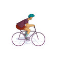young man riding bicycle cycle sport male in vector image vector image