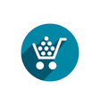 Cart icon isolated vector image