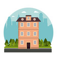 building victorian style architecture skyline city vector image