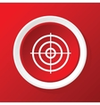 Aim icon on red vector image