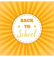 Back to school retro round sticker vector image