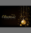 background christmas design with ball glowing vector image vector image