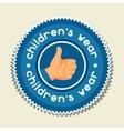 background with sticker children wear vector image