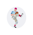 Baseball Pitcher Outfielder Throw Leg Up Low vector image vector image