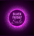 Black friday sale technology background in neon