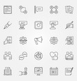 blogging icons set vector image