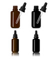 bottles for medical products vape e liquid oil vector image vector image