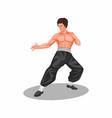 bruce lee martial art legend figure concept vector image vector image
