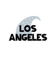 card with lettering los angeles and wave in vector image vector image