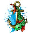 carp fishing icons design art vector image