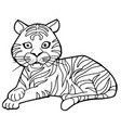 cartoon cute tiger coloring page vector image vector image
