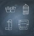 chalkboard icon set accessories for bird in vector image
