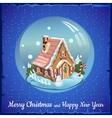 Christmas ball with fabulous house vector image vector image