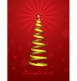 christmas holiday tree vector image vector image