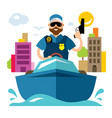 coast guard flat style colorful cartoon vector image
