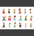 cute little kids wearing elegant adult oversized vector image