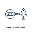 direct message icon symbol creative sign from vector image vector image