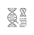 dna molecule with cancer cells malignant tumor vector image vector image