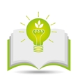 eco book environment bulb graphic vector image