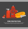 fire protection promotional poster with special vector image vector image