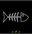fish sceleton it is white icon vector image vector image