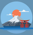 flat design landscape japan vector image