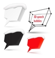 Four speech bubbles with place for text vector image vector image