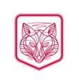 fox head crest monoline vector image vector image
