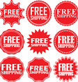 Free shipping signs set free shipping sticker set vector image vector image