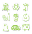 Garbage icon stickers vector image vector image