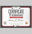 gray certificate or diploma template 2 vector image vector image