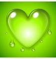Green Waterdrop Heart vector image vector image