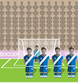 Guatemala Soccer Club Penalty on a Stadium vector image vector image