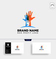 hand care non profit logo template icon element vector image vector image