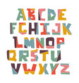 hand lubberly cut colorful alphabet set vector image vector image