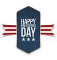 happy presidents day banner with striped ribbon vector image vector image