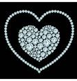 Heart diamond composition vector image