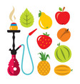 hookah and different tastes flat style vector image vector image