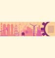 industrial header banner vector image vector image