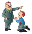 junior executive begging for work vector image
