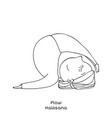 kid yoga pose plow vector image