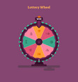 lottery wheel gambling game vector image