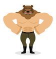 Man Bear Strong powerful wild evil animal with big vector image vector image