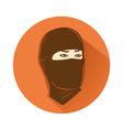 ninja head symbol vector image vector image